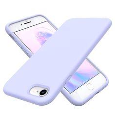 Slim Fit Liquid Silicone Case for iPhone 7/8/SE - Purple