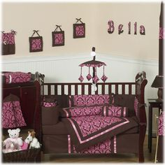 Sweet Jojo Designs Bella Pink 9 Piece Crib Set by Sweet Jojo Designs at BabyEarth.com, $179.99
