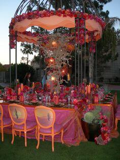 Simple head table for a desert wedding reception