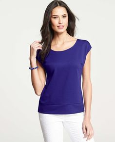 Ann Taylor - AT New Arrivals - Ponte Cap Sleeve Shell