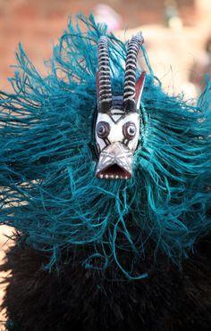 Bwa ceremonial dance, Burkina Faso.  Photo by Dieter Temps
