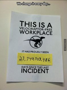 Dinosaur Free Office - The Best Funny Pictures