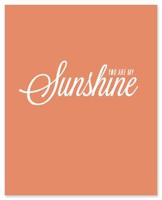 my sunshine:YOU