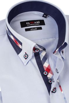 F3 Blue Shirt | Farrabi Slim Fit | Exclusive Luxury Shirts