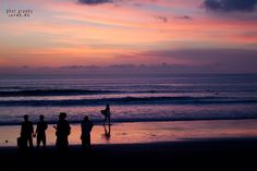 Sunset on Kuta Beach, Bali.  www.jayme.me