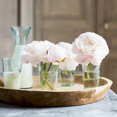 des fleurs blanches