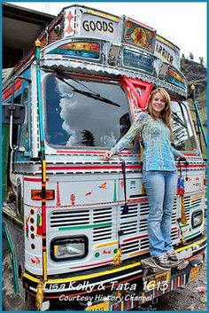 Star Lisa Kelly of Ice Road Truckers show in India drove on the dangerous roads in the Himalayans in this Indian Tata 1613. The other teams turned around & Kelly took her load to the finish