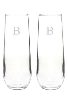 These personalized stemless champagne flutes will make the perfect gift for a New Year's Eve host.