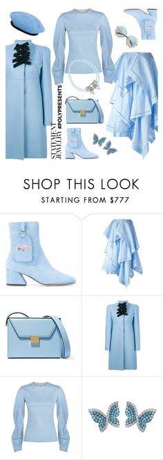 """#PolyPresents: the infinite sky"" by ladyarchitect ❤ liked on Polyvore featuring Dorateymur, J.W. Anderson, Victoria Beckham, Rochas, Swarovski, Gosha Rubchinskiy, contestentry and polyPresents"
