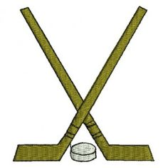 Hockey Embroidery Design