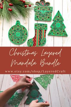 Cricut Projects Christmas, Cricut Christmas Cards, Christmas Decorations For Kids, Paper Christmas Ornaments, 3d Christmas, Christmas Cards To Make, Paper Decorations, Christmas Card Crafts, Homemade Christmas