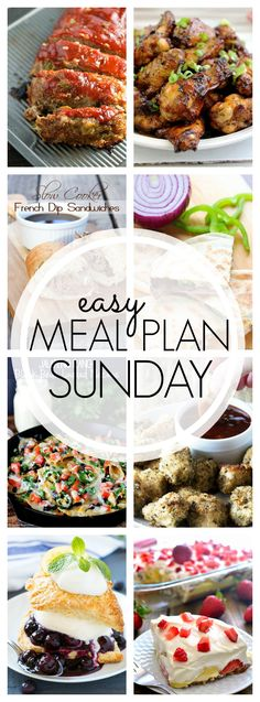 Welcome to our Easy Meal Plan Sunday #52. A whole year has gone by and we're still bringing you delicious recipes to get you through the week.