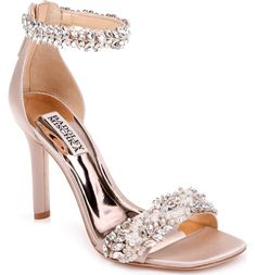 1117ec128 Badgley Mischka Fiorenza Crystal & Imitation Pearl Embellished Sandal  (Women) | Nordstrom