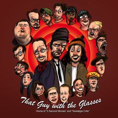 That Guy with the Glasses caricature  TGWG_FANart_KAY.jpg (1000×1000)