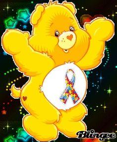 Care Bear for Autism Awareness Live Wallpaper Iphone, Bear Wallpaper, Apple Wallpaper, Wallpaper Backgrounds, Wallpapers, Plush Animals, Cute Animals, Stuffed Animals, Care Bear Tattoos