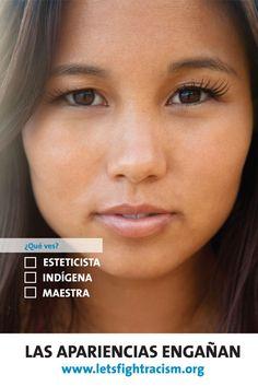 Las apariencias engañan. ¡Luchemos contra el Racismo! Naciones Unidas: http://www.un.org/es/letsfightracism/#sthash.8NyzgQ8n.dpuf