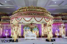 Wedding Stage Décor Ideas: Wedding Photography - VOWS by Siddhu Soma Mandap Ideas. Desi Wedding Decor, Wedding Hall Decorations, Wedding Mandap, Wedding Poses, Backdrop Wedding, Backdrop Decorations, Wedding Ideas, Indian Wedding Stage, Indian Wedding Outfits