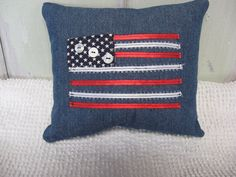 Denim comes in all shapes, sizes and colors! by The Vintage Night Owls on Etsy (Pac-Man tooth fairy pillow)