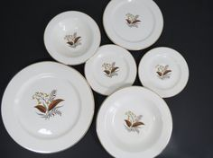 Vintage Lifetime China Co. Linden Pattern Replacement Pieces by thisattic on Etsy, $36