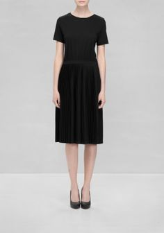 & Other Stories | Pleated Dress | Black