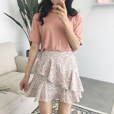 Mini Frilly Flower Skirt