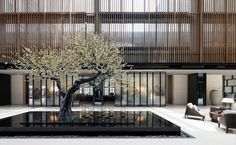 THE LALU NANJING HK$1,243 (H̶K̶$̶1̶,̶9̶0̶4̶) - Prices & Hotel Reviews - China - TripAdvisor Modern Hotel Lobby, Hotel Lobby Design, Lobby Lounge, Lobby Interior, Nanjing, Roof Design, Hospitality Design, Hotel Reviews, Modern Interior Design