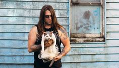 Metal Cats: Hardcore Metal Musicians Pose With Their Cats