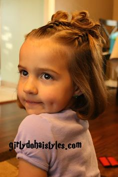 Very cute hair styles for any girl! Hopefully my little one will let me do her hair again someday....