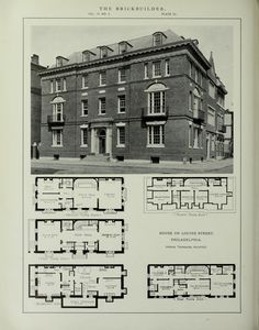 Neoclassical Architecture, Historical Architecture, Luxury Floor Plans, Architectural Floor Plans, Vintage House Plans, Apartment Plans, Sims House, Classic House, Beautiful Buildings
