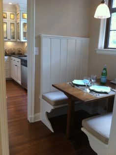 a dining booth for two