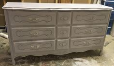 "Check out this adorable French dresser! It would be perfect as a baby changing table or in the little princess room. What do you think?  The dimensions are 58"" L, 17.75"" W, 31.5"" H. SOLD!! for $325"