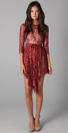 Lover Serpent Lace Dress in Brown