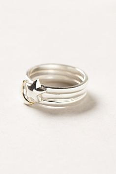 Celestial Ring Trio Size 7 | Anthropologie