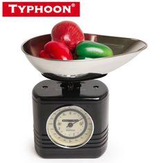 Typhoon Vintage Kitchen Scales Black