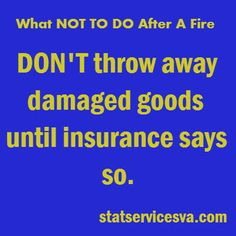 Things to know after a fire #afterafire #housefire #fire #statservices