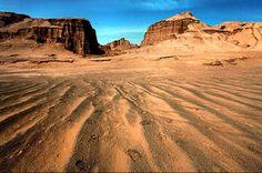 "Dasht-e Lut (Lut Desert)-Kerman Province (Iran) "" The Middle East - Asia """