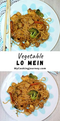 This Vegetable Lo Mein can be an excellent home made alternative to chinese takeout food. This recipe can be easily altered to suit your taste and choice of vegetables without compromising on the flavor. #lomein #vegetablelomein #chineselomein #mycookinjourney @mycookinjourney   mycookingjourney.com