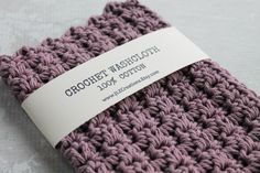 Crochet Wash Cloth Crocheted Cotton by JLZCreations LILAC