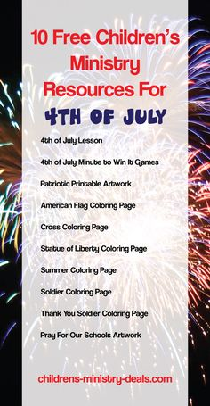 FREE Fourth Of July Sunday School And Childrens Ministry Resources Bus RouteChildren MinistryPastorChurch