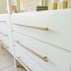 European Brass T-bar pulls upgrading our Ikea Ivar Unit. Best Ikea hack for… Brass Cabinet Pulls, Drawer Pulls And Knobs, Cabinet Handles, Cabinet Hardware, Brass Hardware, Kitchen Hardware, Brass Kitchen, Kitchen Cabinets, Dresser Pulls