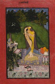 Bhairavi Ragini. Made in Bundi, Rajasthan, c.1736.