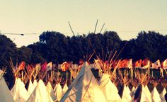 Tipi Village - Glastonbury Festival, via Flickr.