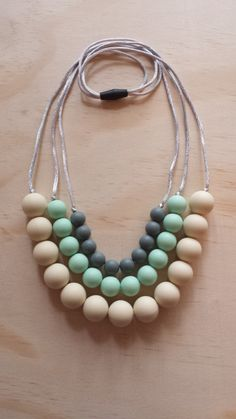 Silicone Teething Necklace Jasmine in by IndigoLaneDesign on Etsy