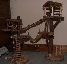 Custom Made Large Toy Treehouses by Treehousefairy on Etsy, $185.00