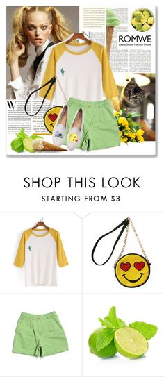 """""""NEW ROMWE CONTEST. WIN """"Color Block T-shirt"""""""" by astromeria ❤ liked on Polyvore featuring Lalé, OLIVIA MILLER, Lauren Ralph Lauren, Del Toro, ELSE and romwe"""