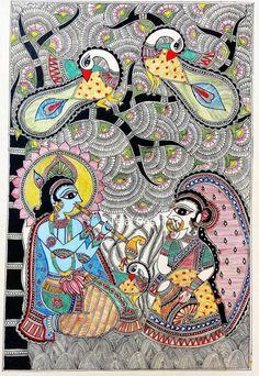 Madhubani Art, Madhubani Painting, Indian Folk Art, Diy Art, Spiderman, Superhero, Crafts, Paintings, Fictional Characters