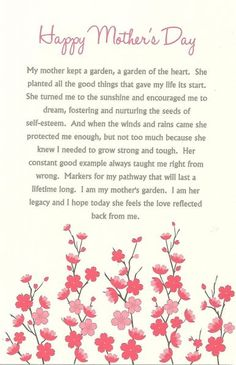 Mothers Day Poems To Write In A Card – Mothers Day PoemsMothers Day PoetryPoems For Mothers Day