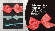 Stampin' Up! Demonstrator Aubrey Paxton shares the secret to tying a perfect bow for your projects and cards. Check out out an easier way to tie a perfect sy...