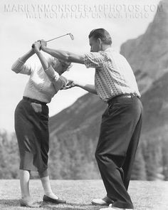 Rare Marilyn Monroe   Details about MARILYN MONROE LEARNING to GOLF (2) HQ 8x10 UNIQUE ...