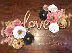 Sistema de papel de flores amor